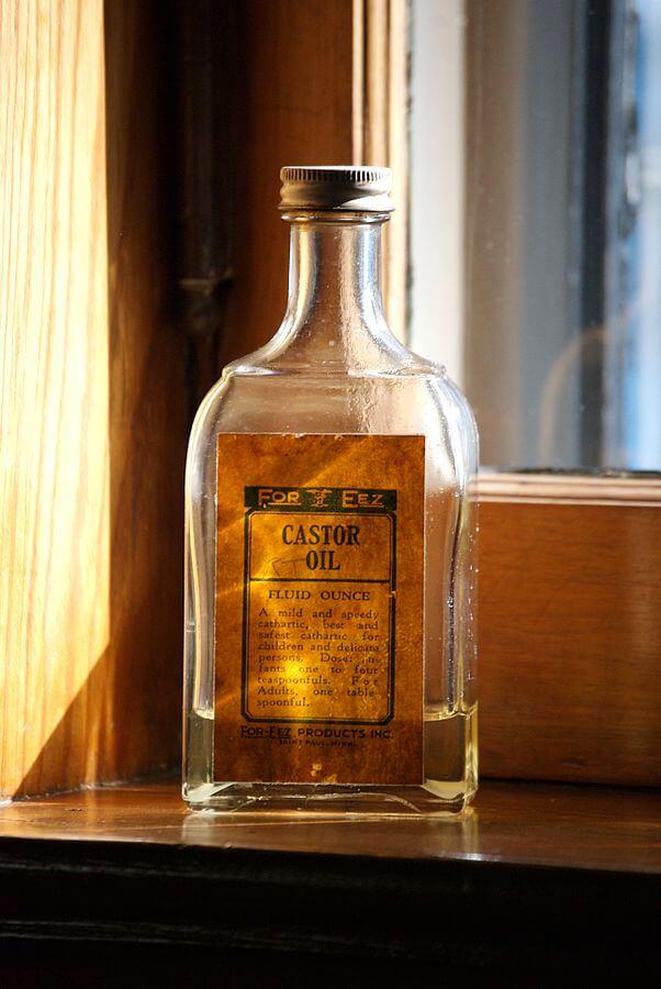 Castor-olie-flaske